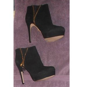 BEBE black suede boots size 10 - FIRM PRICE!!!!